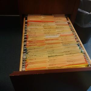 Drawer full of file folders