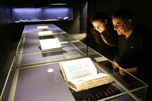 Original Gutenberg Bibles on display in Mainz