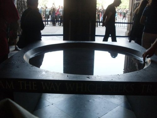Holy water fount in Notre Dame Cathedral, Paris